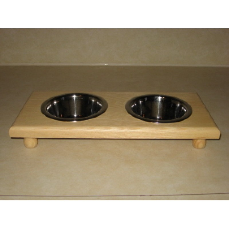 Small Cat or Dog Wooden Diners   Malm Woodturnings