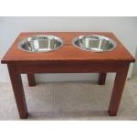 double bowl diner dog feeder
