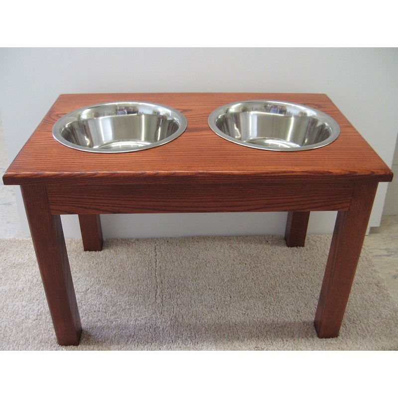 Double Bowl Wooden Dog Diner | Malm Woodturnings