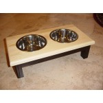 double bowl two tone option model designed for small dogs