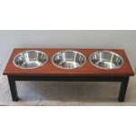triple bowl diner dog feeder example in two tone finish