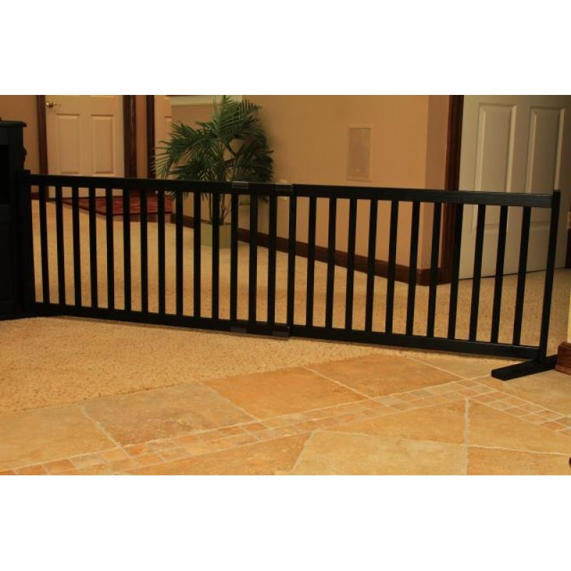 Dynamic Accents Kensington 20 Tall Adjule Freestanding Black Dog Gate