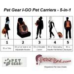 Pet Gear I-GO Pet Carrier 5-in-1 details