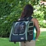 Pet Gear Traveler I-GO2 pet carrier in Sage as a backpack