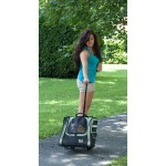 Pet Gear Traveler I-GO2 pet carrier in Sage as a telescoping pull behind carrier