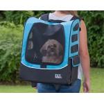 Pet Gear Plus Traveler I-GO2 pet carrier in Ocean Blue as a  backpack