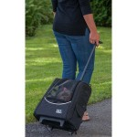 Pet Gear EscortI-GO2 pet carrier in Black as a telescoping pull behind carrier