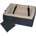 Pet Gear Designer Booster Dog Carseat and Pet Bed in  designer slate with cream fleece