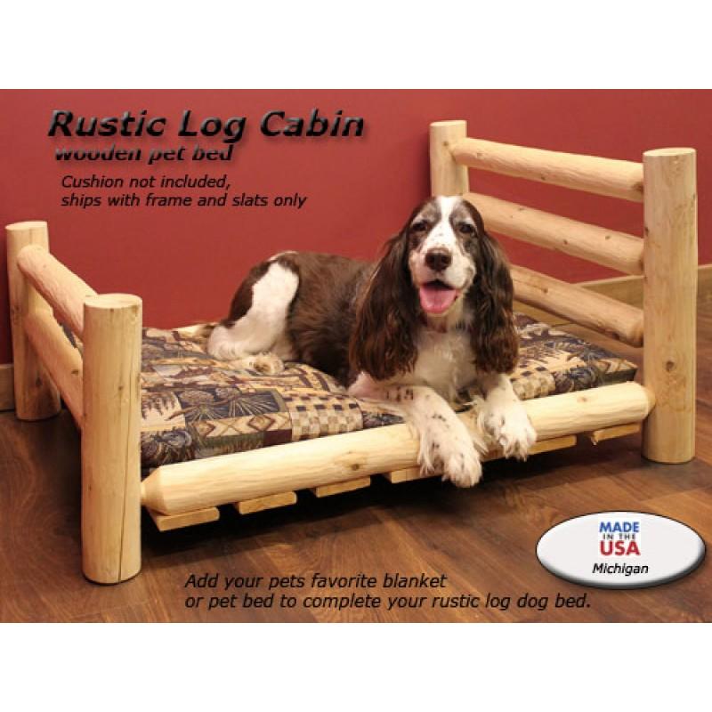 Lakeland Mills Log Wood Dog Bed With