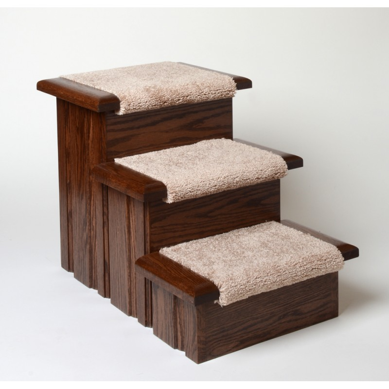 Oak Wood Carpeted Pet Stairs Premier Steps