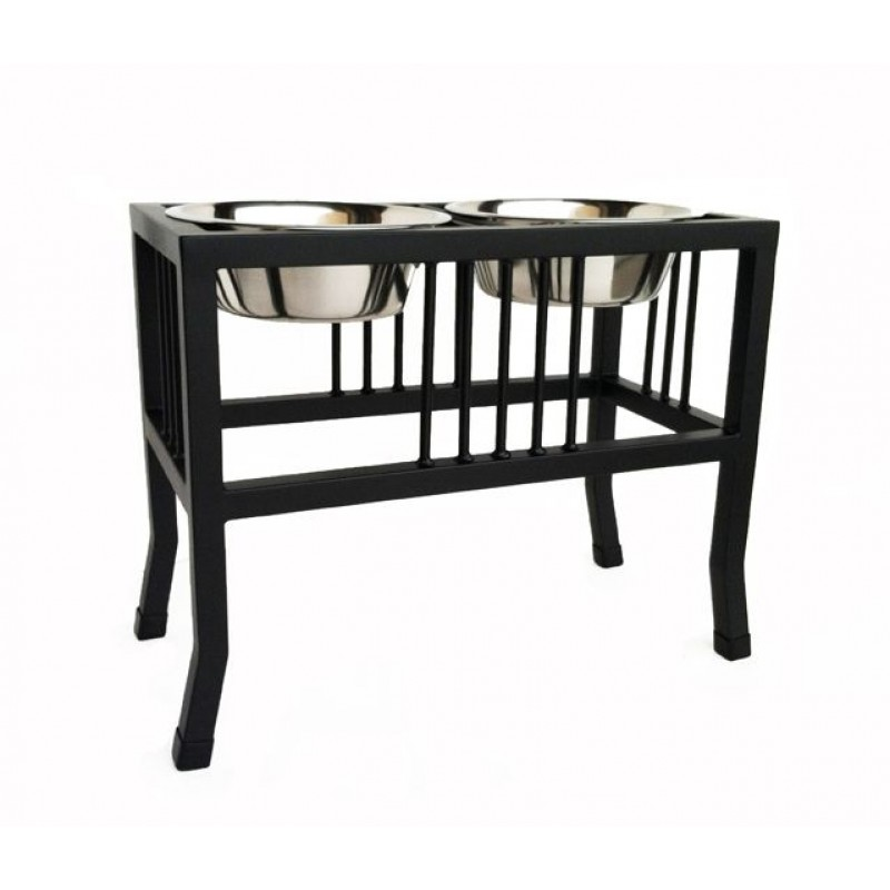 Baron Double Bowl Elevated Raised Dog Diner | Pets Stop