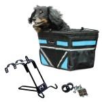 Travelin K9 Black Pet-Pilot Dog Bike Basket Carrier with 9 color options