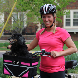Dog Bike Basket and Dog Trailers for riding with pets