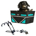 Pet-Pilot MAX dog bike basket carrier in Turquoise with Mount Bracke
