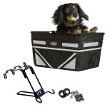 Pet-Pilot MAX dog bike basket carrier in Silver with Mount Bracket