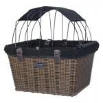 Travelin K9 Pet-Pilot MAX Wicker Dog Bike Basket Carrier